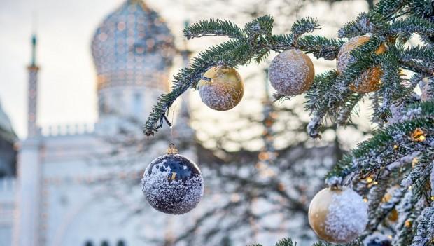 Tivoli-gardens, Winter, Weihnachtskugeln