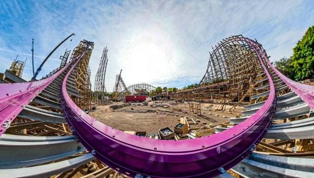 Busch Gardens Tampa Bay Iron Gwazi Baustelle