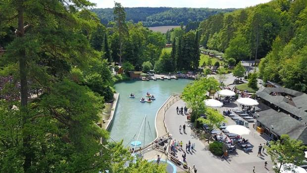 Eifelpark Gondorf von oben