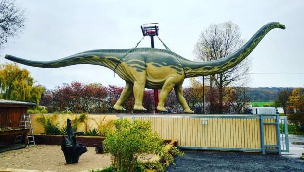 Erlebnistierpark Memleben Dinosaurier Aufbau