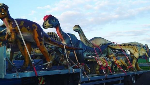 Erlebnistierpark Memleben Dinosaurier-Modelle Übersicht