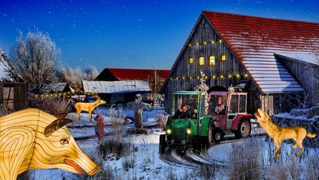 Karls Erlebnis-Dorf Rövershagen Winter Traktorbahn