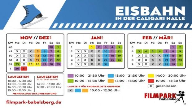 Öffnungszeiten Eisbahn 2019 Filmpark Babelsberg