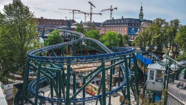 Tivoli Gardens maelkevejen Baustelle Strecke