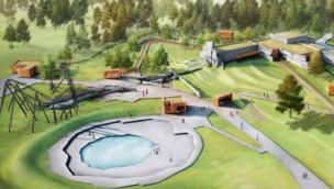 Vulcania enthüllt Pläne für neue Achterbahn für 2021 mit Freifall-Element und Erdbeben-Gestaltung