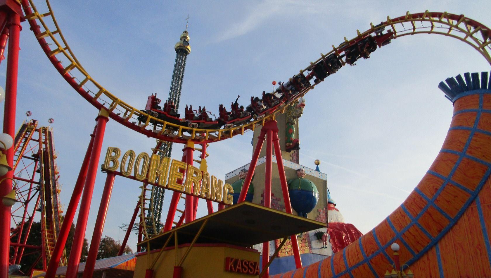 Boomerang Achterbahn im Wiener Prater | Bild Copyright Christian Ohrens, Parkerlebnis