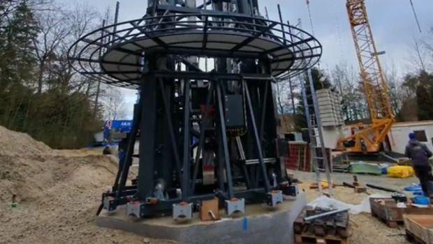 Bayern-Park neuer Freifallturm 2020 Aufbau