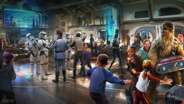 Star Wars Galactic Starcruiser Lobby