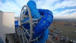 Drehende Wasserrutsche: Aquapark Reda feiert Eröffnung des ersten SlideWheel in Europa