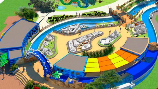 Gardaland Wasserpark Miniland LEGO River Rendering