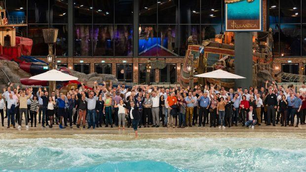 VDFU beim Besuch der neuen Indoor-Wasserwelt - ©Andreas Schwarz / VDFU