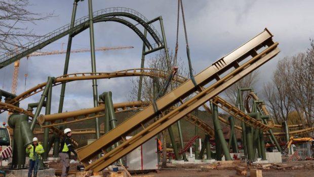Erlebnispark Tripsdrill Hals über Kopf Achterbahn neu 2020 Baustelle