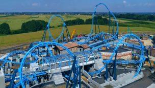 Energylandia Achterbahn Abyssus Baustelle