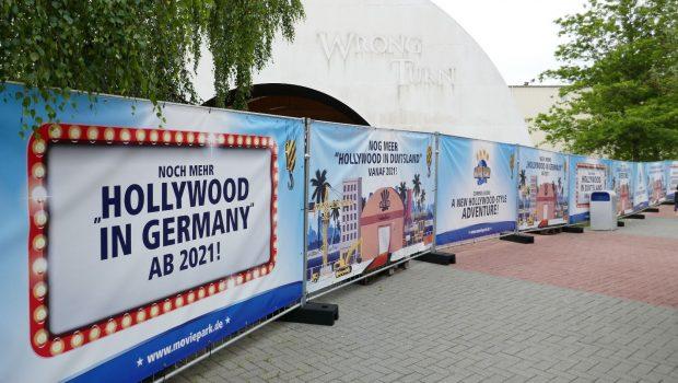 Movie Park Germany Neuheit 2021 Bauzaun