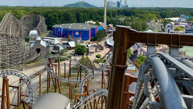 Movie Park Germany Hängeachterbahn Neugestaltung 2020