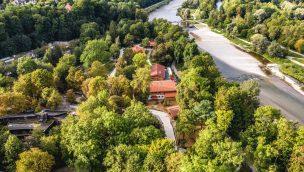 Münchner Tierpark Hellabrunn aus der Luft